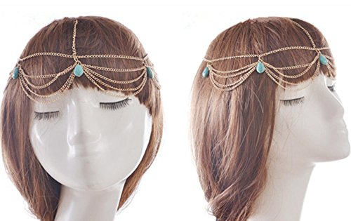 cool2day 1 Pcs Fashion Girls Charm Headband Stylish Women Ladies Hair Band Handmade Head Chain Hair Accessories by SamGreatWorld Clothing Girls