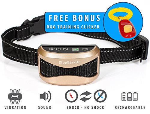 Kreel Anti Bark Collar No Shock Humane Training Collar Large Small Dogs Sound Vibration Waterproof Anti Bark Collar Pet Training Safe Electronic Barking Collar