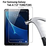 Samsung Galaxy Tab A 7.0 Screen Protector,DETUOSI® [9H Tempered Glass Technology] Premium Tempered Glass Screen Protector Film for Samsung SM-T280/T285 7 Inch Tablet(2016 Version,A6 7.0)