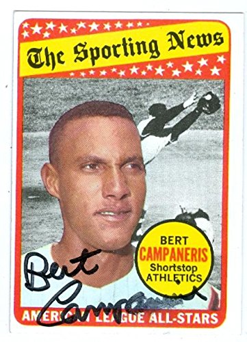 bcb4538391e Bert Campaneris autographed baseball card (Oakland Athletics) 1969 Topps  Sporting News All Stars