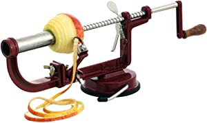 Louis Tellier N4231 Apple Corer, Peeler and Slicer with a Suction Cup