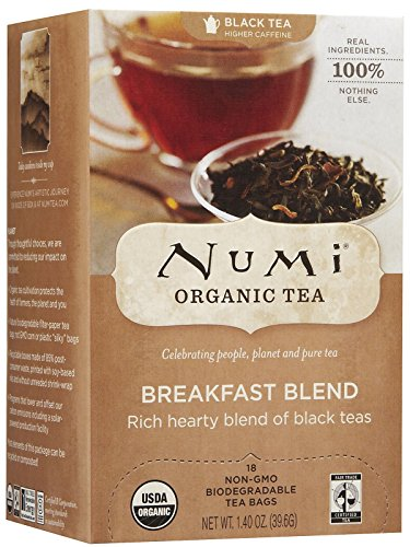 Numi Organic Tea Morning Breakfast Blend Black Tea, 18 ct