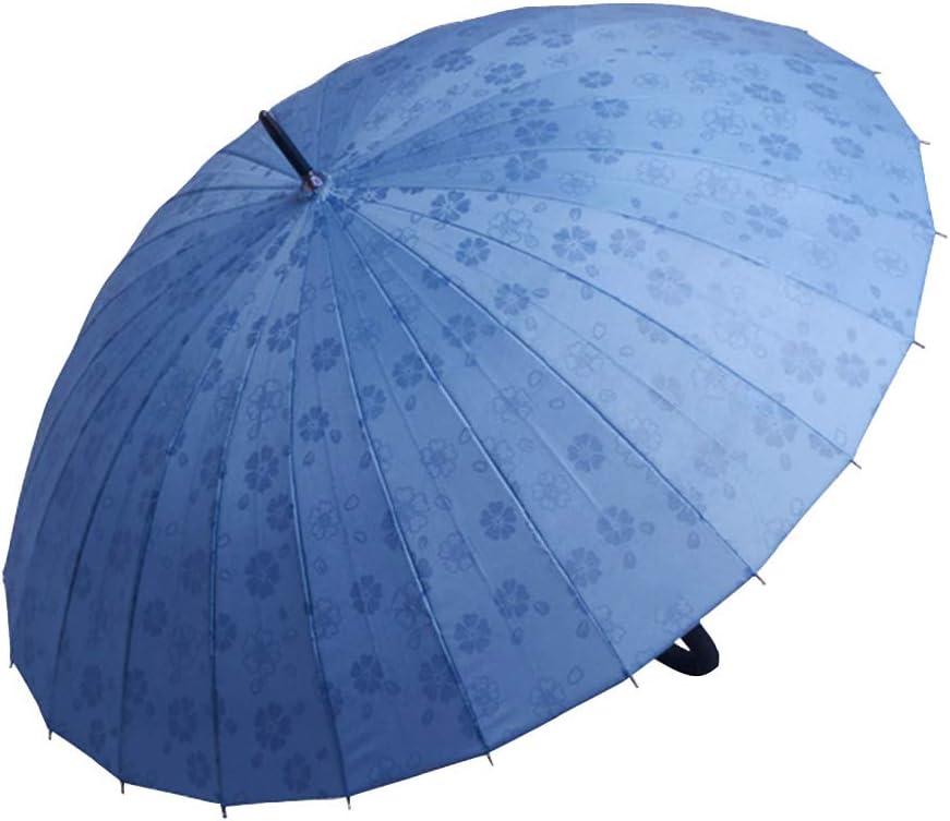 KIAYI Creative Windproof Umbrella Manually Open 41 Inch Women Windproof Waterproof Sunproof Stick Umbrellas,WineRed