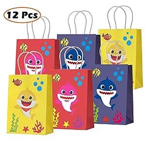 Amazon.com: Bolsas de regalo para bebé, diseño de tiburón ...