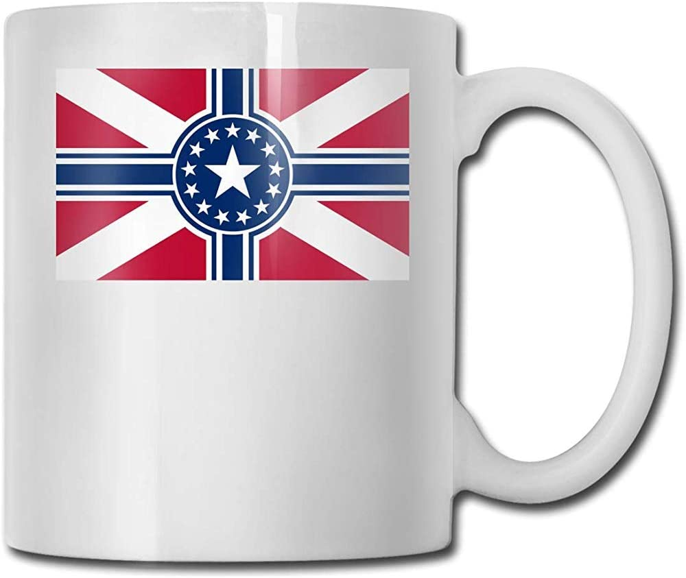 Bandera del Imperio Americano Taza de cerámica Taza Tazas de café divertidas Taza de viaje de cerámica Taza de té 330ml (Blanco): Amazon.es: Hogar