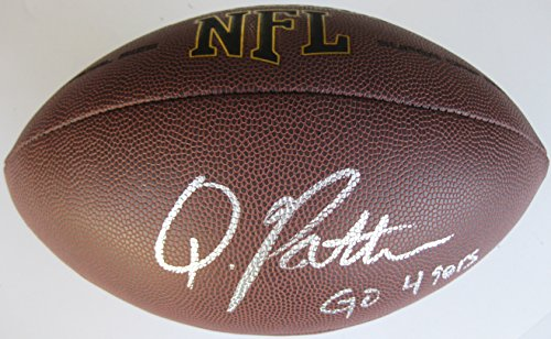 Quinton Patton, San Francisco 49ers, Niners, Louisiana Tech, Signed, Autographed, NFL Football, a COA and Proof Photo of Quinton Signing the Football Will Be Included