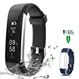 CHEREEKI Fitness Tracker, Activity Tracker IP67 Waterproof with Replaceable Strap, Smart Sports Watch Wristband Slim Bracelet Compatible with Android and iOS Smartphones