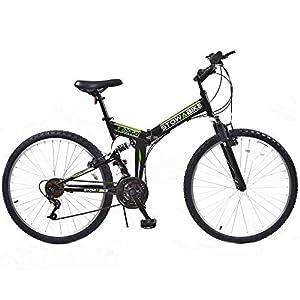 """Stowabike 26"""" MTB V2 Folding Dual Suspension 18 Speed Gears Mountain Bike Black from Stowabike"""