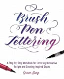 img - for Brush Pen Lettering: A Step-by-Step Workbook for Learning Decorative Scripts and Creating Inspired Styles book / textbook / text book
