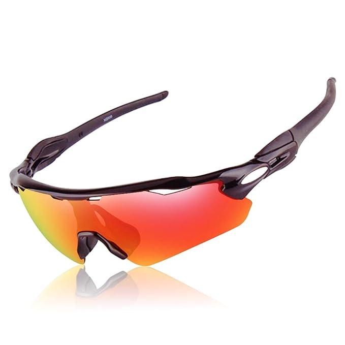 Amazon.com: Gafas de sol deportivas polarizadas para correr ...