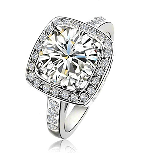 Yoursfs Austrian Crystal Dress Ring Ladies Fashion Jewellery 18ct White...