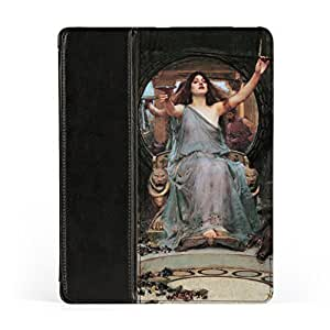 Circe Offering the Cup to Odysseus by John William Waterhouse Premium Faux PU Leather Case, Protective Hard Cover Flip Case for Apple? iPad 2 / 3 and iPad 4 by Painting Masterpieces + FREE Crystal Clear Screen Protector