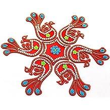AMBA HANDICRAFT Rangoli / home decor/ Diwali / gift for home / interior handcrafted / floor stickers / wall stickers / wall decoration / Designer Stencil / new year gift / party.25 DESGIN (Design 26)