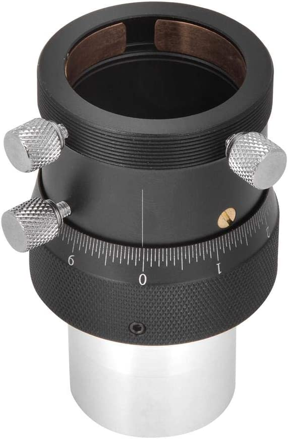 Mugast 1.25Inch Helical Focuser,Alloy 10mm Focusing Stroke High Precision with 0.05mm Scale for Telescope Lenses//Finder//Guidescope