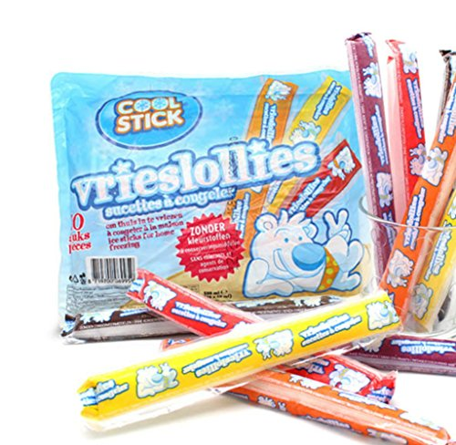 Dedert Ice Sticks Cool Stick (50ml x 10 Ea)x 2Pack (20Ea) 5 Flavors Cherry Peach Cola Lemon - Mall Springs Cool