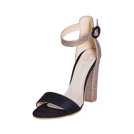 Damenschuhe Größe Größe 38 Schuh aus Schiefer schwarz und