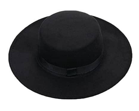 Amazon.com  East Majik Men and Women Flat Top Fedora Hat - Black ... 11bfe0a9eff