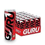 GURU Organic Energy Drink, 355 ml, Natural and Healthy Energy Beverage, 24 Count