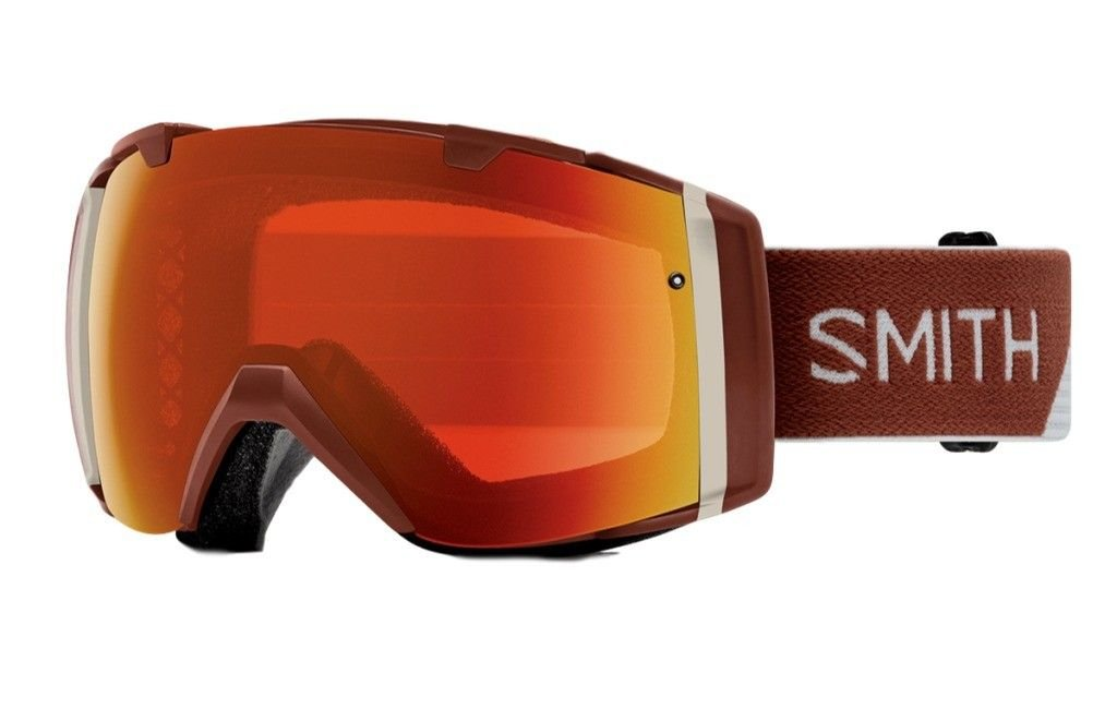 Smith Optics Adult I/O Snowmobile Goggles Adobe Split / ChromaPop Everyday Red Mirror by Smith Optics