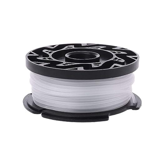 Manyo - Bobina de hilo de coser, color negro y blanco, hilo ...