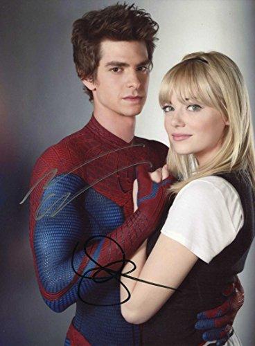 Andrew Garfield & E. Stone SPIDERMAN autographed photo