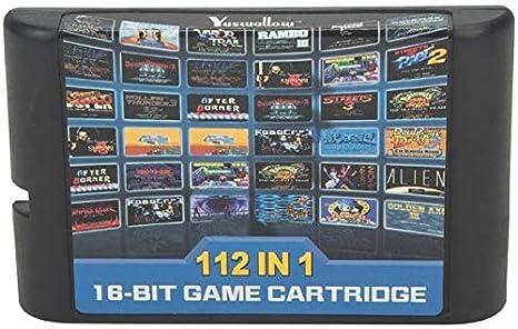 112 En 1 Para El Cartucho De Juego Sega Megadrive Genesis Amazon Es