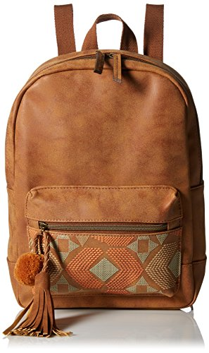 t-shirt-jeans-dome-back-pack-with-puff-print-and-pom-tassel-cognac