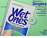 WET ONES Sensitive Skin Hand Wipes Singles Extra Gentle Fragrance Deal