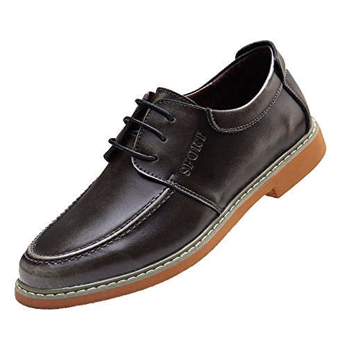 Moda De Estaciones Casual Hombres Zapatos Juventud Lyzgf Cuatro Grey Negocios Transpirable Encaje Retro Cuero wEIXdPq
