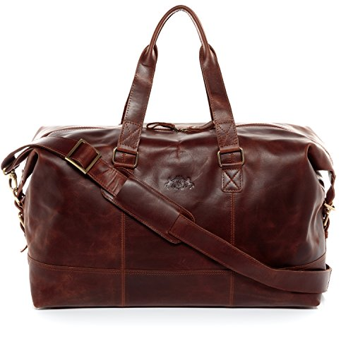 SID & VAIN real leather travel bag holdall YALE Large...