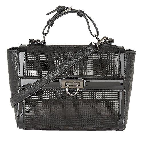 Lotus Handbags Hennie Nero Stampa Tote Bag