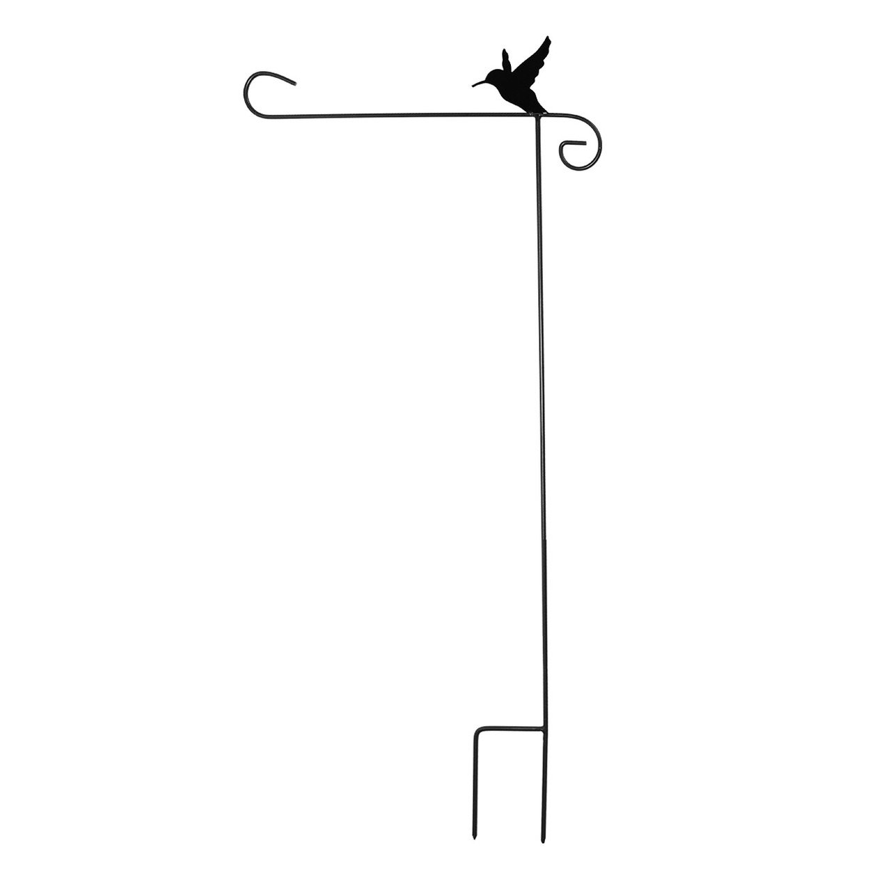 Briarwood Lane Wrought Iron Hummingbird Garden Flag Stand 40'' H