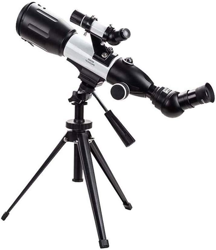 TASGK Telescopio para Niños Adultos Principiantes, 50mm Apertura 350mm Refractor Telescopio Terrestre Astronomico Monocular BAK-4 Prism FMC Lente Telescopio con Adaptador de Teléfono y Trípode