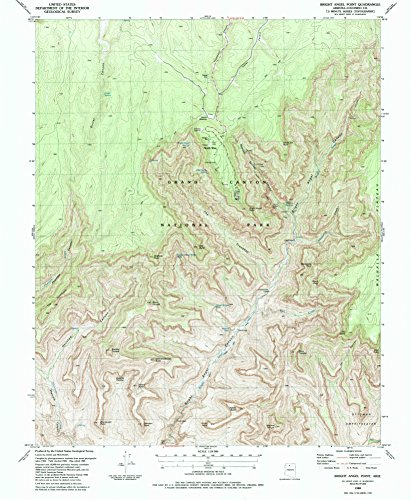 Bright Angel Point AZ topo map, 1:24000 scale, 7.5 X 7.5 Minute, Historical, 1988, updated 1988, 26.7 x 22 IN - - Colonnades Map