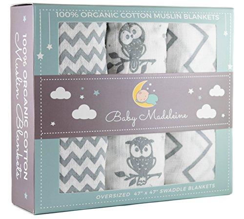 Premium Organic Baby Swaddle Blankets product image