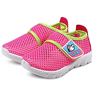 DADAWEN Baby's Boy's Girl's Breathable Mesh Running Sneakers Sandals Water Shoe Rose Red US Size 6.5 M Toddler