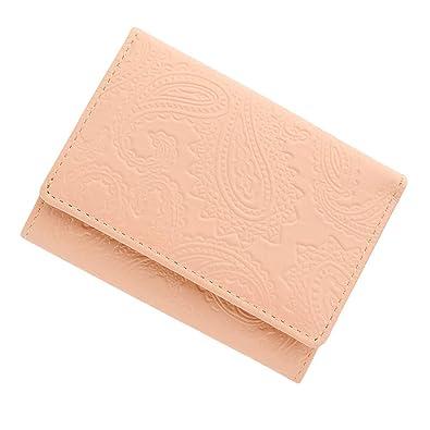 137e8000566c 極小財布 スムース ペイズリー型押し ベーシック型小銭入れ BECKER 日本製 (ピンク)
