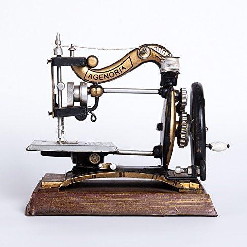 youjiu Suerte Mopec Decorativas Adornos Pequeños Creativos Modelo De Máquina De Coser Antigua Adornos De Muebles Retro, Negro, 24.5 * 14 * 22 Cm: Amazon.es: Hogar