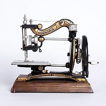 GDS/Antiguo Vintage Retro Máquina de coser modelo Muebles Decoración Bar Cafe joyas creativas y artesanal Francesa: Amazon.es: Hogar