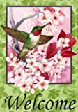 Floral Hummingbird Large Flag Review