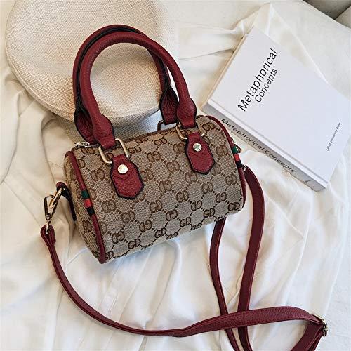 (FANGDADAN Shoulder Bag,Women Fashion Handbag,Cross-Body Bag,Ladies Vintage Boston Mini Top-Handle Bag,Casual Messenger Bag)