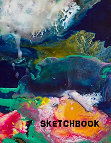 Sketchbook: Abstract Art Design Cover - Blank Notebook / Journal for Creative Drawing and Sketching - Adults and Kids