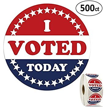 image about I Voted Stickers Printable called : I Voted Stickers/Labels - 2\