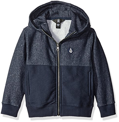 Embroidery Navy Blue Hoodie - 6
