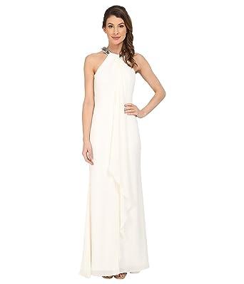 Amazon Com Calvin Klein Women S Halter Neck Draped Gown Cd5b1p8w