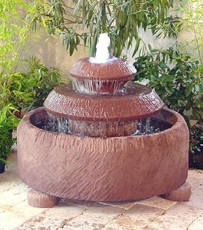 Amore I de acero de obra y piedra con bombín de jardín de fuente con juego de agua de piedra de fuente de roca de la fuente: Amazon.es: Hogar