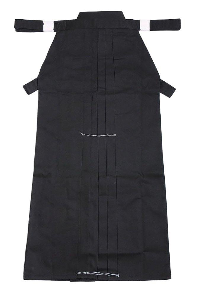 KIKIGOAL Men's Kendo Aikido Hapkido Martial Arts Sportswear Hakama (XXL, black) by KIKIGOAL