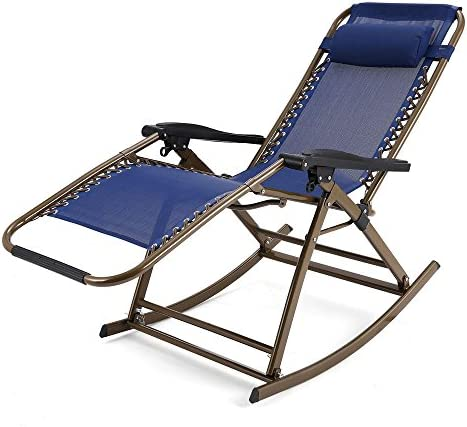 (US Stock)Outdoor Zero Gravity Folding Lounge Patio Folding Reclining ChairPortable Rocking  sc 1 st  Amazon.com : lawn chair recliner - islam-shia.org