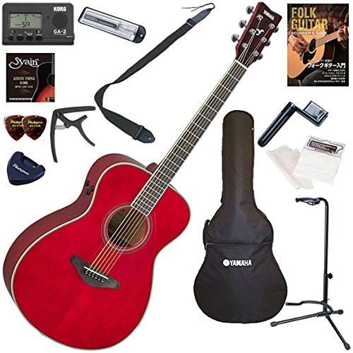 【超新作】 YAMAHA アコースティックギター 初心者 入門 ギターの生音にリバーブ YAMAHA、コーラスをかけられるトランスアコースティックギター お手軽13点セット FS-TA 入門/RR(ルビーレッド) 初心者 RR(ルビーレッド) B0792KCGNZ, 野球狂の店センナリスポーツ:a9cb75b6 --- arianechie.dominiotemporario.com