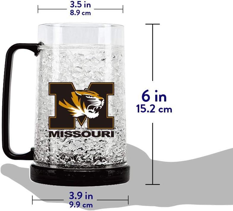 NCAA Missouri Tigers 16oz Crystal Freezer Mug